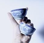 【猪口2点セット】酒器 牡丹柄 マシンメイド 東峰