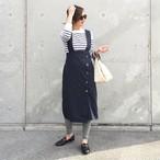 KU-UM×yuko,natsu,junko 3wayジャンパースカート  ネイビー