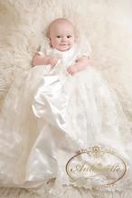 赤ちゃん 高品質 お宮参り 海外デザイン ヘッドドレスつき ドレス 可愛い 退院 出産祝い セレモニードレス フォーマルドレス 新生児 ANKD226