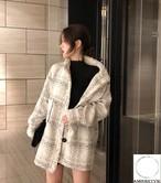 2018 冬 レディース 新作 ジャケット コート チェック オルチャン 韓国ファッション 398