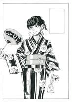 マユリカ中谷『5upよしもと時代の単独ライブ「マユリカの30分」のポスター原画』③