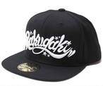 【BLACK EDITION】RAKUGAKI Main logo Snap Back Cap Black x White