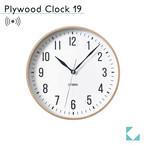KATOMOKU plywood clock 19 km-111NARC ナチュラル 電波時計