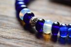 ボロビーズブレスレット 8mm 『ブルー×ブルー×ムーンストーンコンビ(多色)』1