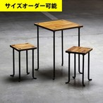 IRON BAR CAFE TABLE & 2 STOOL SET[AMBER COLOR]サイズオーダー可