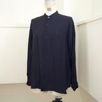【hippiness】cupro A line shirt (30black)/【ヒッピネス】キュプラ Aライン シャツ(30ブラック)