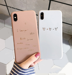 【オーダー商品】Simple literary love iphone case