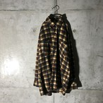 [used] rare colour checkered poly shirt