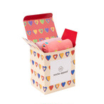GIFT BOX HEART IVORY(FOR 2 PAIR)