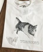 飛び猫Tシャツ立体版