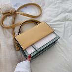 【送料無料】 6color♡ 上品 レトロ 大人女子 バイカラー スクエア型 ミニサイズ ハンド ショルダーバッグ 2way カバン