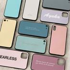 【文字入れ対応】シンプルカラーSSスマホケース♪iPhone各種対応♪カラフルニュアンスカラー オーダーメイド文字入れ対応