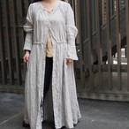 【ethical hippi】sleeve tuck one-piece(light gray) / 【エシカル ヒッピ】スリーブ タック ワンピース(ライトグレー)