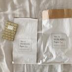 Name入り paper bag - L -