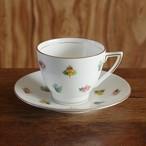 アンティーク食器 ミントン 花柄 コーヒーカップ ソーサー #190301-1 Minton ヴィンテージ ばら パンジー 忘れな草 イギリス
