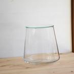 【ガラス容器】台形ポット・L ふた付き(115xh150mm)◆適度な通気で丈夫に育つ