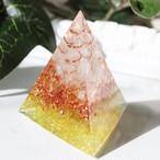 三角錐型オルゴナイト シトリン 金運・幸運・明るいエネルギー