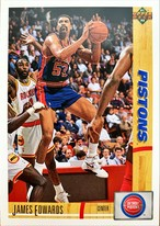 NBAカード 91-92UPPERDECK James Edwards #338 PISTONS