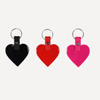 「HEART」ラバー キーホルダー ブラック