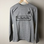 BV×Fc.BeNeVo STANDARD LOGO LONG SLEEVE-T (HEATHER GRAY)