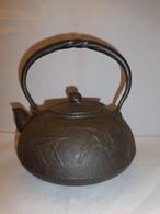 鉄瓶(葦、かたつむり) iron kettle(reed,snail)(No8)