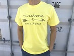 ThreeArrowsロゴ Tシャツ(yellow)