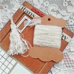 §koko§ 引き揃え糸カード ~fuwari~お祝い オリジナル糸 ファー ゴールド ラッピング レース タッセル