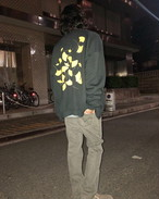 XXL  イチョウ print  sweat blouson