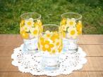 再入荷! 佐々木硝子 定番のレトロポップ花柄グラス(中サイズ) 昭和レトロ
