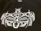 コウモリのフットボールTシャツ C/#ブラック