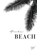 MAHALOVE 作品名:Beach black A4ポスターアルミフレームセット【商品コード: ml-beachblack】