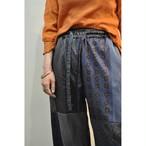 【RehersalL】 pajamas patch pants(midnight) /【リハーズオール】パジャマパッチパンツ(ミッドナイト)