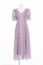 《追加・予約商品》Flower Shadow Dress(Lavender・Navy)
