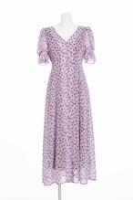 《追加・予約商品》Flower Shadow Dress(Lavender・Navy)