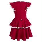 BUTTERFLY DRESS ROYAL RED