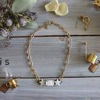 ヴィンテージルースと星のネックレス -Shell Star Necklace-