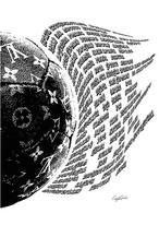 Craig Garcia 作品名:LV Soccer world 03  A1キャンバスポスターフレームセット【商品コード: cglsw03】