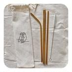 ステンレスストローセット(ゴールド):stainless steel straw (gold)