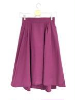 ミモレ丈のフィッシュテールスカート マゼンダ