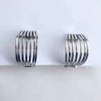silver hoop earring[e-1304] ヴィンテージイヤリング