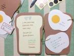【 再制作あり 】BBパンの2つ折りカード 目玉焼き付き( トレーシング封筒 / シール付き / オリジナルパッケージ )