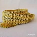 正絹 クリーム色の平織りの帯締め