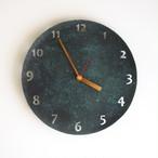 緑青 丸時計 23cm