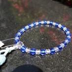 水晶ブルークォーツ仕立て(Crystal&Blue Crystal)