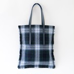 Flat Tote Bag /Green×Navy