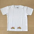 オールドTシャツ企画 オリジナルプリントT 右向きトリ2匹 SSサイズ