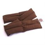 レギュラーサイズ(ショコラ):伸ばして背中全体に。畳んで腰を中心に。天然小豆の蒸気温熱が体の芯まで温めます。