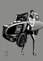 STARDESIGN 作品名:Gelande Surf V3  A4ポスターフレームセット【商品コード: wb45】