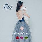 Plié 【 Moss pink mesh】~Autumn color~