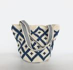 ワユーバッグ (Wayuu bag) Basic line Mini tote blue